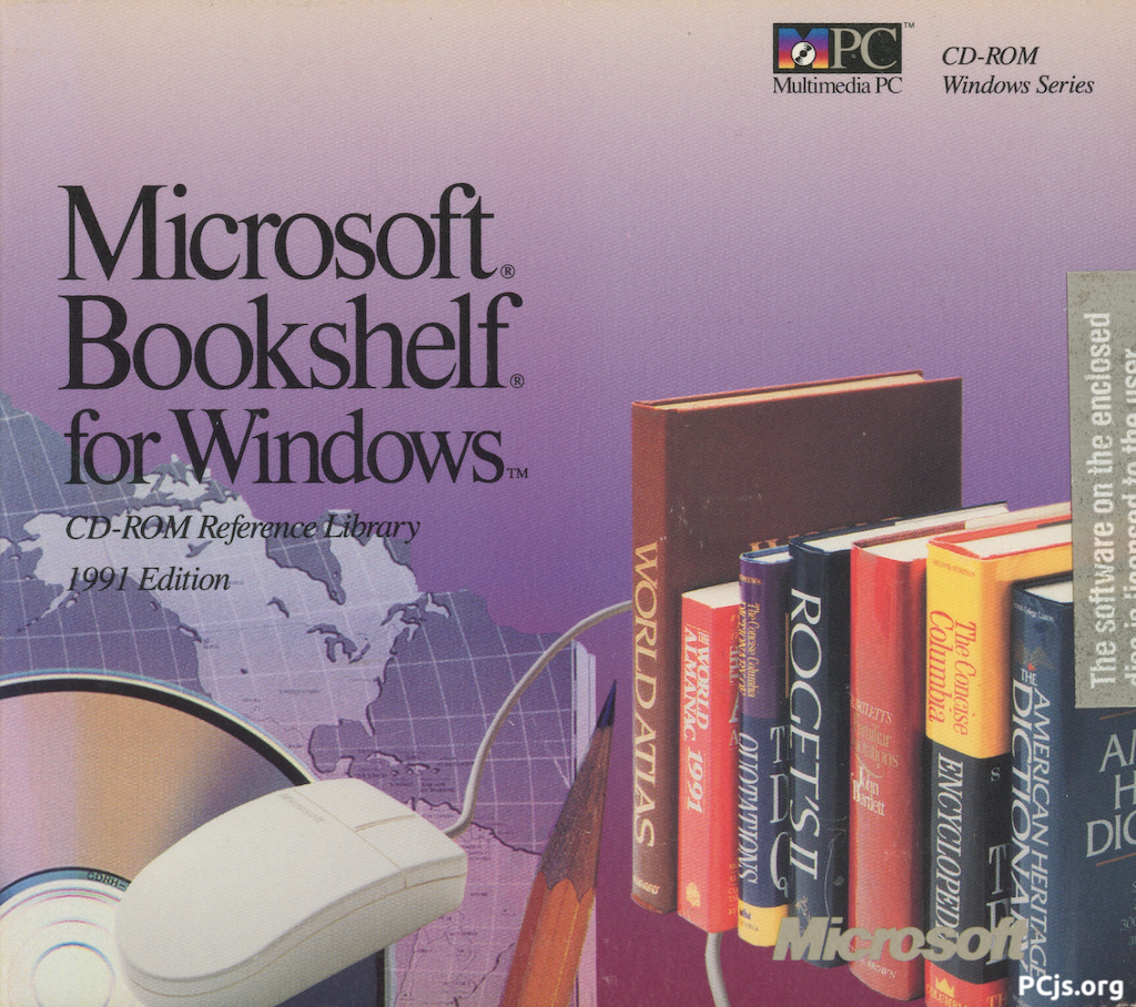 Bookshelf for Windows 1991 - Case
